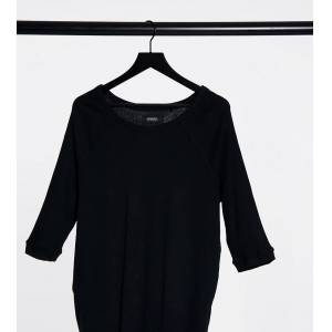 Simply Be long sleeve t-shirt in black  - Black - Size: 18