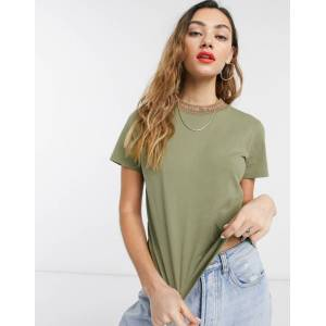 Tommy Jeans logo neck t-shirt in green  - 26043672701 - Size: Medium
