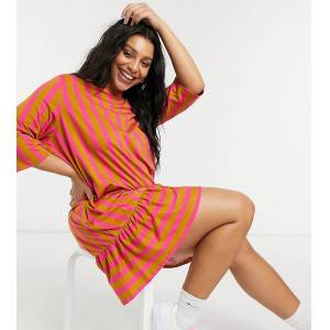 Vero Moda Curve smock mini dress in brown  - Brown - Size: Large