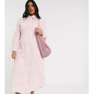 Verona Curve maxi shirt dress in strpie-Pink  - 26798654129 - Size: 22