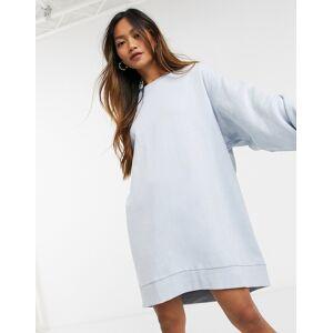 Weekday Liza mini sweat dress in light blue  - Blue - Size: Large
