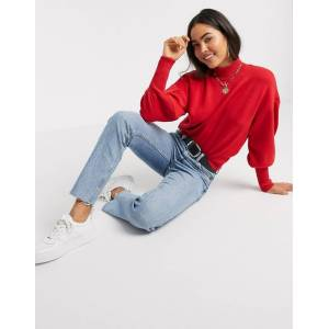 Y.A.S Conny puff sleeve knit jumper-Red  - 25852834485 - Size: Large