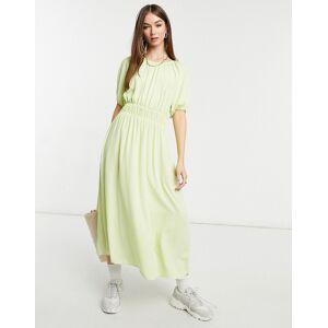 Y.A.S. polka dot midi tea dress in green  - Green - Size: Large