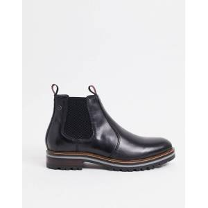Base London hadrian Chelsea boots in waxy black leather  - Black - Size: 11