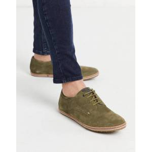Base london mavern lace up shoes in khaki suede-Green  - 26006029963 - Size: 6