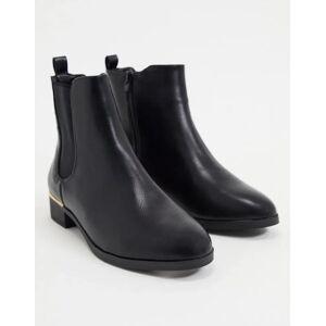 Accessorize flat chelsea boot in black  - Black - Size: 5