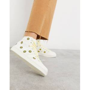 adidas Originals Americana Decon trainers with faces-White  - White - Size: 5