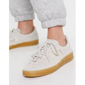 adidas Originals Broomfield trainers in beige with gum sole-Grey  - Grey - Size: 8