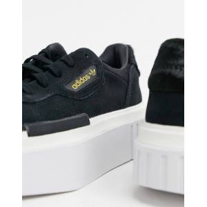 adidas Originals Hyper Sleek trainers in black and white  - Black - Size: 6