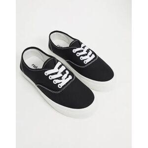 Rubi jamie lace up plimsolls in black  - Black - Size: 3