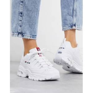 Skechers Energy SKX chunky trainers in white  - White - Size: 3