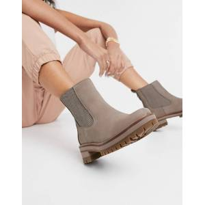 Timberland Courmayeur Valley heeled chelsea boots in taupe-Brown  - Brown - Size: 4