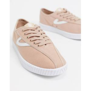 Tretorn nylite trainers in blush/white-Beige  - Beige - Size: 40