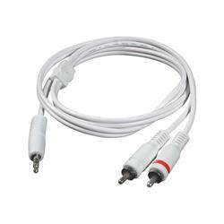 C2G 1m One 3.5mm Male to Two RCA Male Audio Y-Cable - White