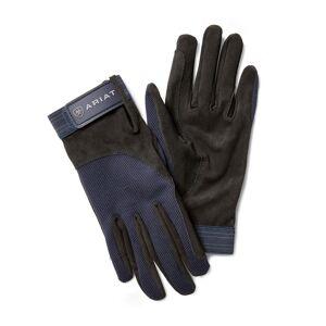 Ariat Tek Grip Gloves in Blue Cotton Twill, Size 8, by Ariat