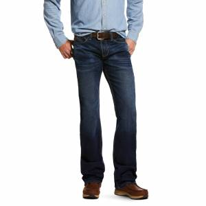 Ariat Men's M7 Rocker Stretch Montecito Stackable Straight Leg Jeans in Salton Cotton, Size 30 32, by Ariat
