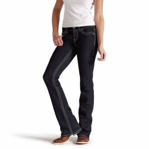 Ariat Women's R.E.A.L Mid Rise Original Boot Cut Jeans in Eclipse, Size 33 Long, by Ariat