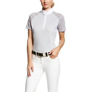 Ariat Women's Aptos Vent Show Shirt in Gray, Size Medium, by Ariat