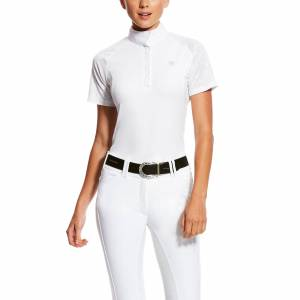 Ariat Women's Marquis Vent Show Shirt in White Volte, Size X-Large, by Ariat