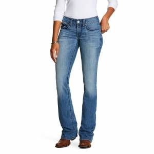 Ariat Women's R.E.A.L. Mid Rise Stretch Shawna Boot Cut Jeans in Odessa Cotton, Size 27 Long, by Ariat