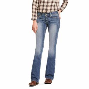 Ariat Women's R.E.A.L. Low Rise Stretch Franky Boot Cut Jeans in Stevie Cotton, Size 28 Long, by Ariat