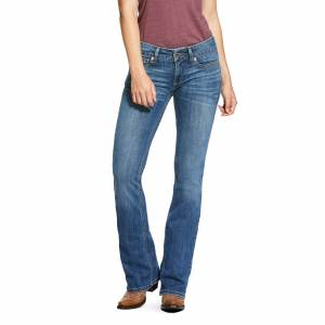 Ariat Women's R.E.A.L. Mid Rise Arrow Fit Stretch Silver Dust Boot Cut Jeans in Eleanor, Size 32 Long, by Ariat
