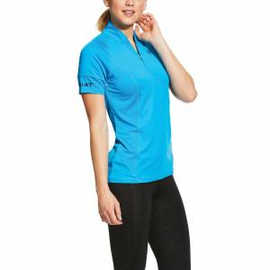 Ariat Women's Cambria Jersey 1/4 Zip Baselayer Top in Nautilus, Size X-Large, by Ariat