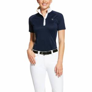 Ariat Women's Aptos Vent Show Shirt in Show Navy, Size Large, by Ariat