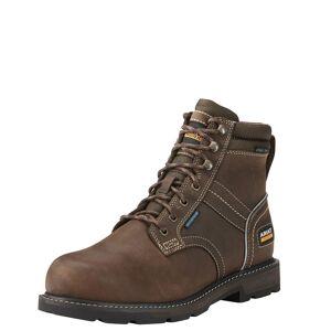 """Ariat Men's Groundbreaker 6"""" Waterproof En Iso Lace Up Work Boots in Dark Brown, D Medium Width, Size 10.5, by Ariat"""