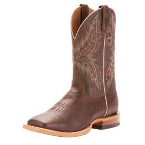 Ariat Men's Arena Rebound Western Boots in Branding Iron Brangus Leather, D Medium Width, Size 11, by Ariat