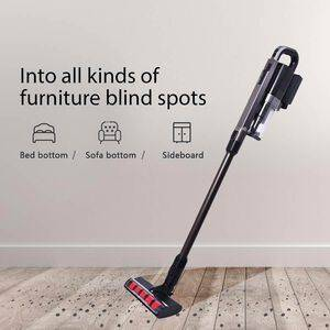 TJC Cordless Vacuum Cleaner with 2 Speed (Size 115x24x18cm) - Black and Grey