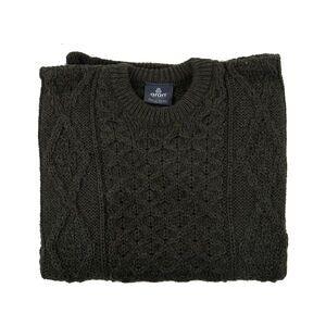 TJC ARAN 100% Pure New Wool Irish Sweater (Size S) - Green