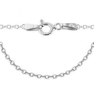TJC Sterling Silver Trace Chain (Size 18)