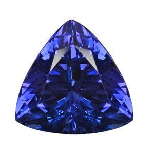 TJC AAAA Tanzanite Trillion 14.71X14.79X14.74X9.56 Faceted 11.69 Ct.