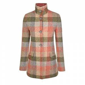 Magee 1866 Patchwork Linsford Salt & Pepper Donegal Tweed Coat  - Multicoloured - Size: 8
