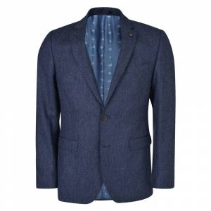 Magee 1866 Navy Salt & Pepper Donegal Tweed 3-Piece Tailored Fit Suit  - Blue - Size: 36/30L