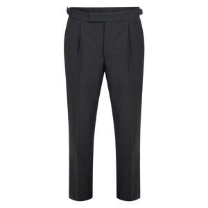 Magee 1866 Black Single Pleat Dinner Suit Trouser  - Black - Size: 30L