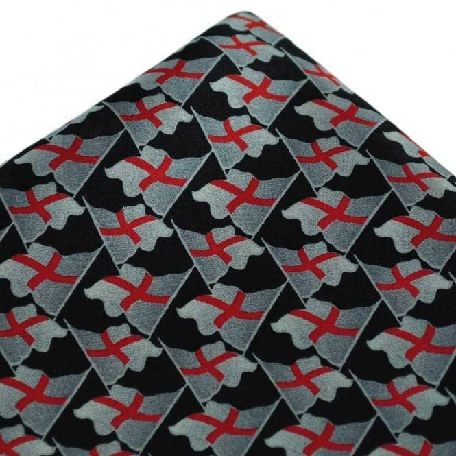 England St George's Cross Flag Silk Handkerchief