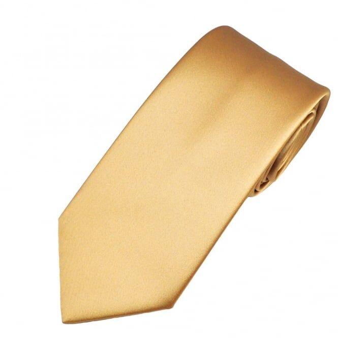 Plain Beige Boys Tie