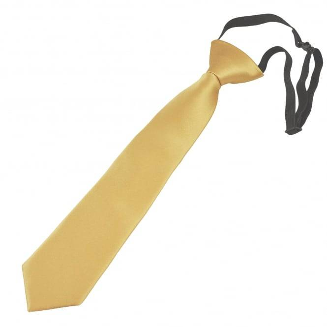 Plain Bright Gold Boys Tie - 6 Months to 4 Years