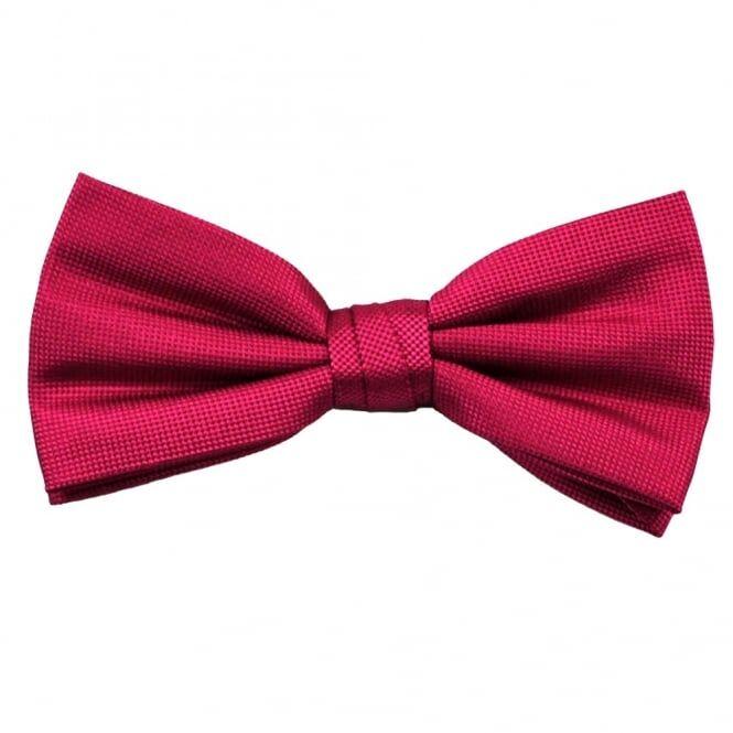 Plain Fuchsia Pink Silk Bow Tie
