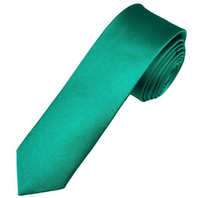 Plain Jade Green Silk Men's Skinny Tie