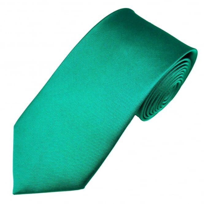 Plain Jade Green Silk Tie