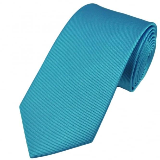 Plain Light Blue Silk Tie