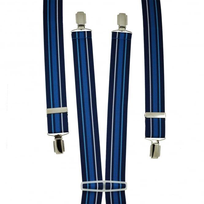 Shades Of Blue Striped Men's Trouser Braces