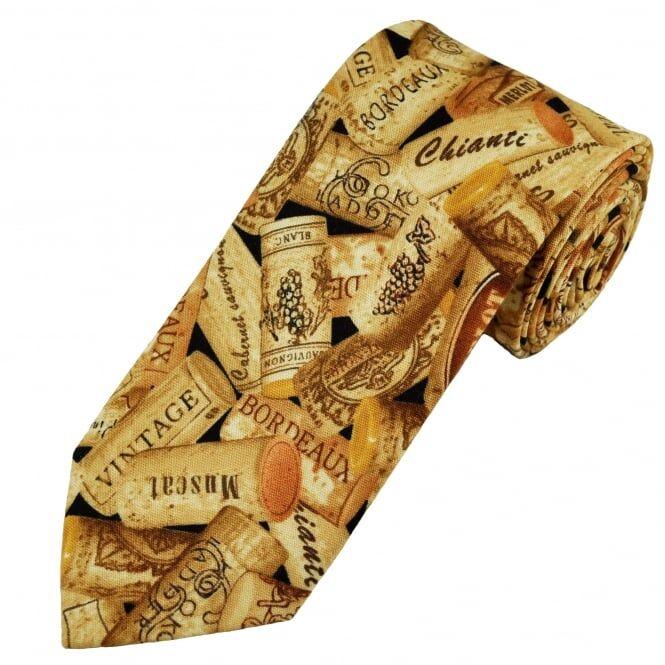 Van Buck Wine Bottle Corks Cotton Men's Tie