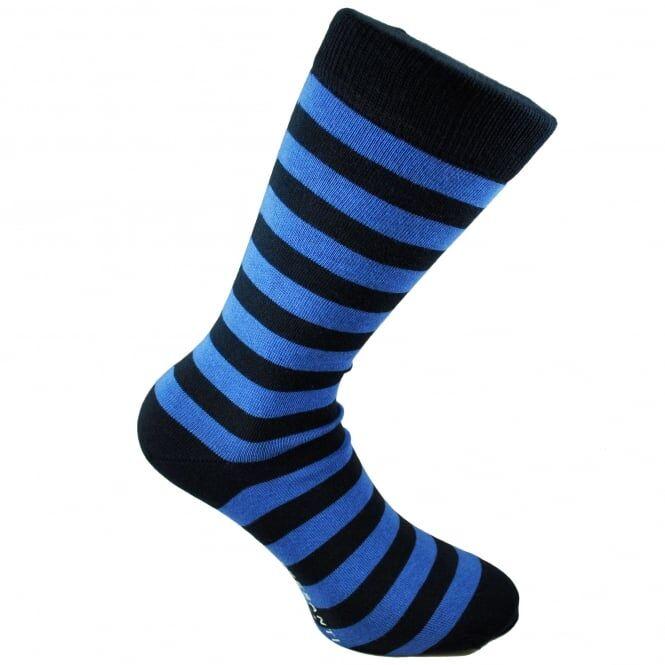 Tresanti Navy Blue & Royal Blue Striped Men's Socks