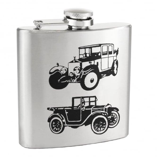 Vintage Car 6oz Stainless Steel Hip Flask