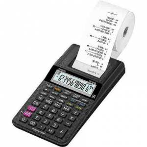 Casio Battery-Powered Printing Calculator, HR-8RCE-BK-W-EC