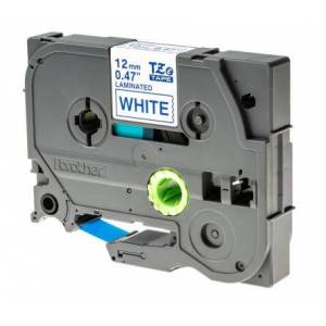 Brother Blue on White Label Printer Tape, 12 mm Width, 8 m Length, TZe-233